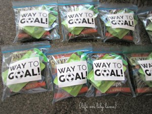 Preschool soccer snack idea